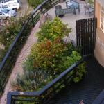 Various levels to the Backpackers house, each with a patio,