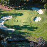 The par 4 Tenth hole at Lion's Paw Golf Links