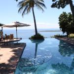 View from the pool deck overlooking Lake Kariba
