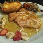 delicia total: pollo en salsa de naranja y papas rústicas