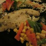 Cream Dory with buttered veggies