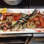 Marvelous fish platter done by chef Kenneth.