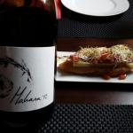 Tosta de Anchoa~Vino Mahara de SanFernando~Pulpo gallega~Cochinillo frito~Puro de hojaldre