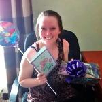 Emily...after receiving her surprise birthday gift!