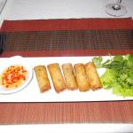 Pork Spring Rolls with tangerine scented nuok mam are great