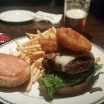 Chop House Burger, and a tasty IPA