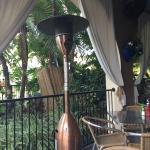 Patio dining view