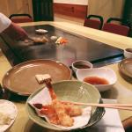 Sakura menu, with tempura, rice, beef and tofu :) perfect dinner!