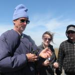 Captain Jess Hawkins explaining the habits of the hermit crab.