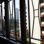 View from room at Sealand House.  Looking towards Tsim Sha Choi Park.