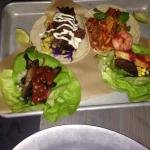 Amazing tacos... Corn wrap and lettuce wrap!!! Yum!