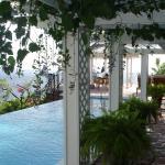 Pool covered walkway