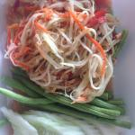 Classic papaya salad. The best I've had in Karon so far. Super fresh and nicely presented - this