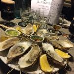 Fresh oysters with whisky