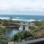 Patio views at Mzimayi River Lodge