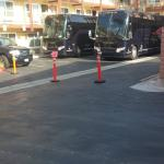 Two of the three buses.