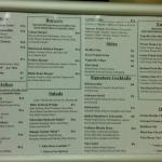 Trolley's menu