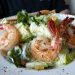 Caesar salad w/ shrimp. 3 shrimp were not enough for an entree.