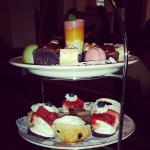 Such a pretty afternoon tea at the Keadeen Hotel.