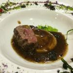 Deer on a mushroom puree