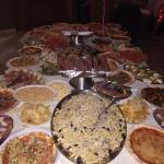 Verdi's birthday party huge buffet
