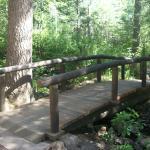Picturesque bridge over Gascon Creek