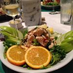 Orange honey chicken salad - picture perfect!