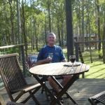 Peace and quiet on the deck overlooking beautiful bushland.