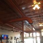 Antique metal ceiling.