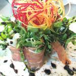 Chèvre proscuitto salad