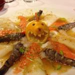 Trop trop chou. Assiette marine (seiche, saumon, gambas) pour barbecue Coréen