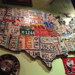 License plates as wall decor