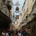 Getreidegasse, la calle mas tipica de Salzburgo