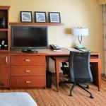 Desk, TV, Microwave and Mini-frig