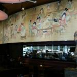 Inside Restaurant Wall Painting over the Kitchen