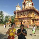With Thailand Girl at Wat Chalong Temple
