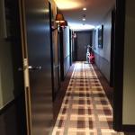 Couloir menant aux chambres