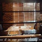 Private Dining areas for functions