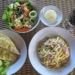Pasta at Dive-Versions Restaurant Tulamben