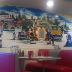 Mural on the wall at route 104 diner