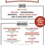 Our steak night menu