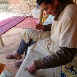 Palm leaf camel making lesson