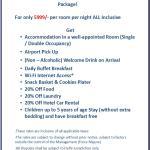Iris Park Hotel 5999 Package