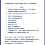 Iris Park Hotel INR 4999 Package