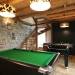 Games room with table football and pool table