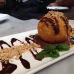 Fried ice cream with nutella