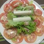 Salada com palmito