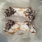 My order of 2 cannoli to-go for after my lunch.