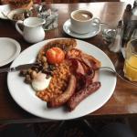 Very full English breakfast
