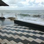 The sea-view terrace on a stormy day